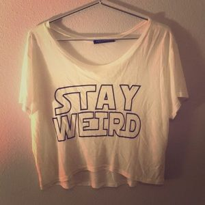 "RockRoseClassic Proverbs 3:5 ""Stay Weird"" Crop Top"